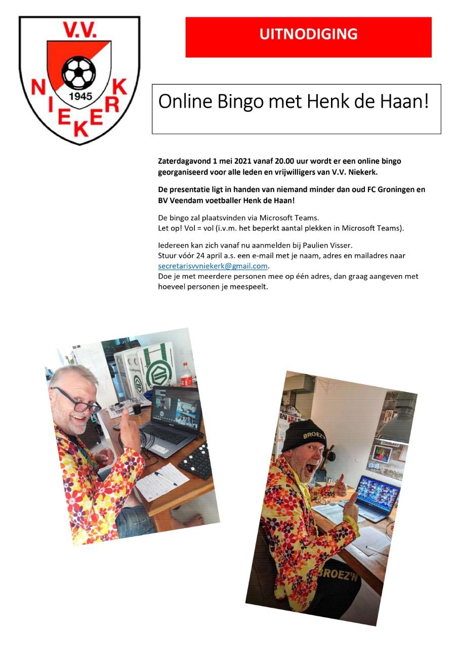 Online bingo met Henk de Haan!